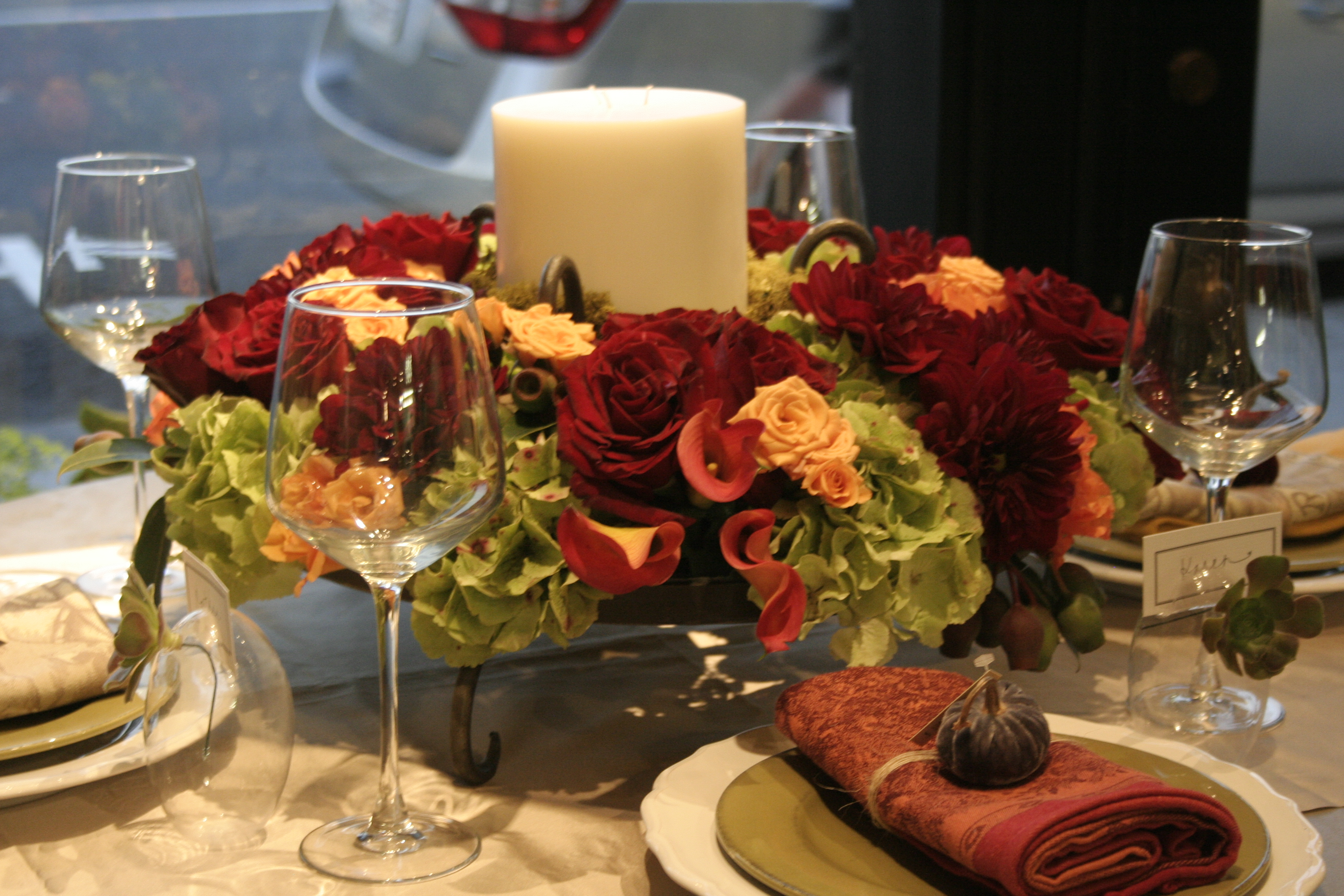 Thanksgiving centerpiece corona del mar florist